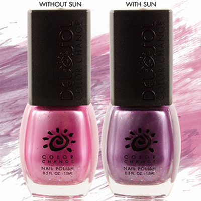 Nail Polish Changes Color in the Sun