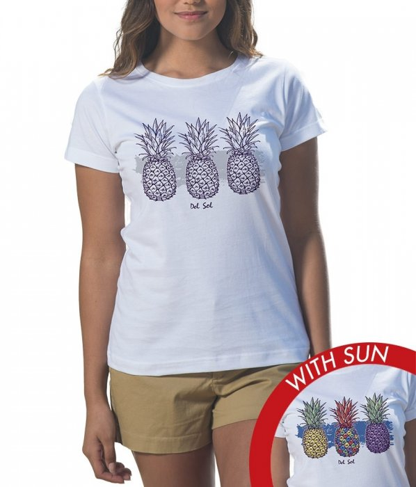Women's Classic Crew Tee - Painted Pineapples