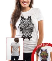 Women's Junior Crew Tee - Ornate Owl